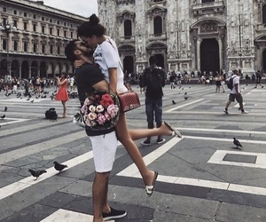 couple, place, and love image