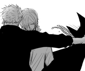 one piece, zoro, and sanji image
