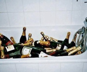 champagne, party, and bath image