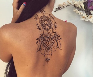 back tattoo, henna, and girly tattoos image