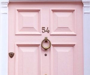 pink, door, and pastel image