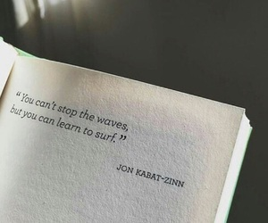 quotes, book, and waves image