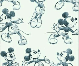 disney, mickey mouse, and disney pencil sketches image