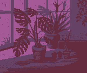 aesthetic, pixel, and plants image