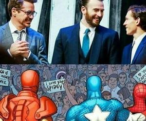captain america, chris evans, and iron man image