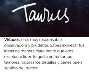 tauro, zodiaco, and frases español image