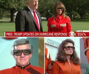 v, donald trump, and reptilians image