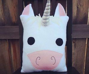 unicorn, pillow, and pink image