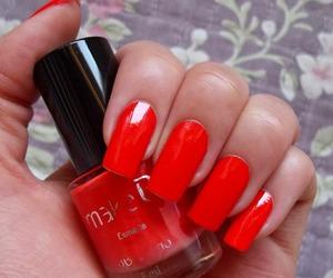 laranja, manicure, and nail polish image
