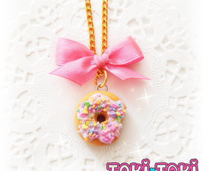 donuts, pendant necklace, and cute necklaces image