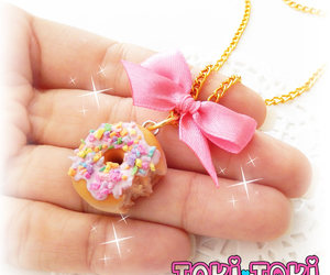 etsy, doughnut jewelry, and necklaces for her image