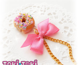 donut, handmade jewelry, and pendant necklace image
