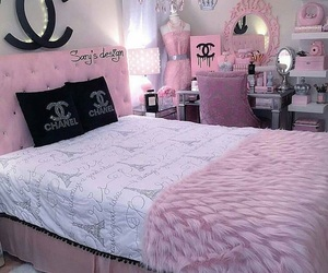pink, room, and chanel image