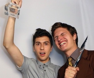 ansel elgort, nat wolff, and the fault in our stars image