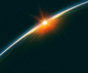 earth, space, and sun image