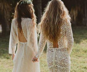 dress, wedding, and boho image