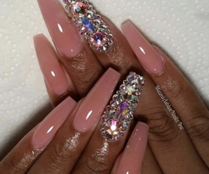 acrylic, diamond, and nails image
