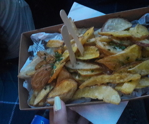 festival, potatoes, and street food image