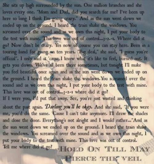 hold on till may, Lyrics, and vic fuentes image
