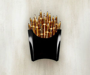 bullet, gold, and fries image
