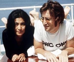 70s, john lennon, and Yoko Ono image