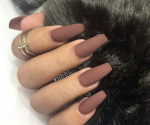 brown, heart it, and nails image