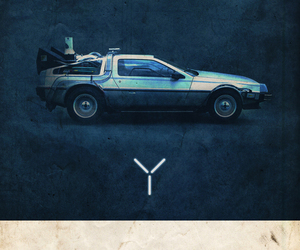 Time machine, Back to the Future, and delorean image