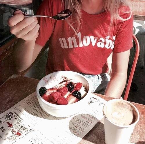 food, fruit, and girl image