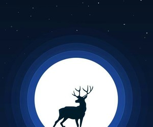 animal, antlers, and blue image