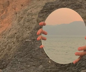 mirror, aesthetic, and ocean image