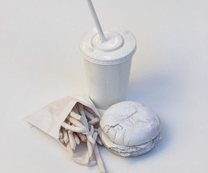 white, food, and burger image