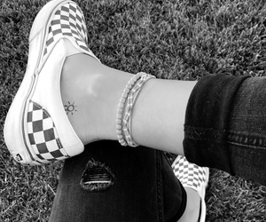 black, bracelets, and checkered image