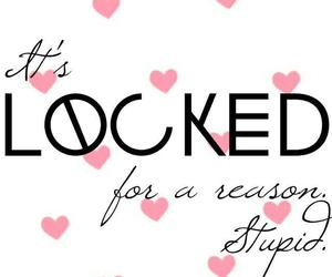 wallpaper, locked, and hearts image