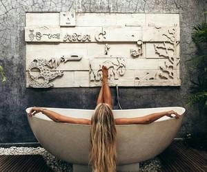 bathroom, girl, and photography image
