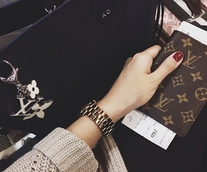 fashion, Louis Vuitton, and watch image