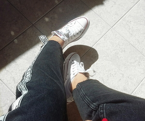 black, converse, and goals image