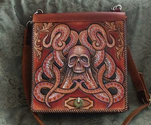 octopus, leather, and skull image