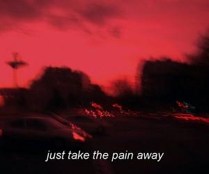 Lyrics, red, and sunset image