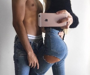 abs, boyfriend, and jeans image