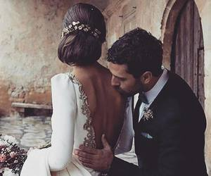 wedding, outfit, and couple image