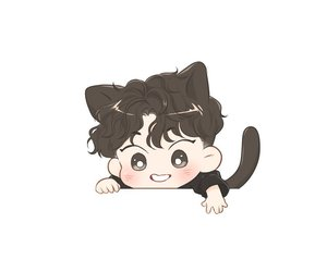 background, cat boy, and exo image
