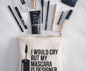 makeup, mascara, and cosmetics image