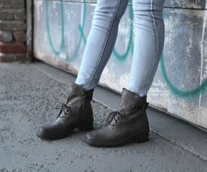 combat boot, wedge boots, and women shoe image