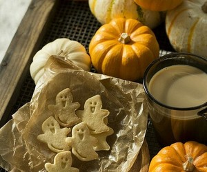 coffee, Halloween, and Cookies image