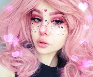 makeup, pink, and pastel image