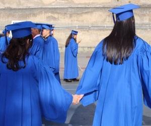 bff, blue, and graduation image