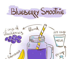 blueberries, illustration, and summer image