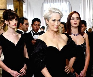 the devil wears prada, Anne Hathaway, and black image