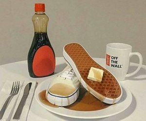 vans, waffles, and food image