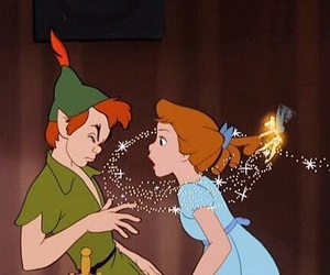 peter pan, disney, and wendy image